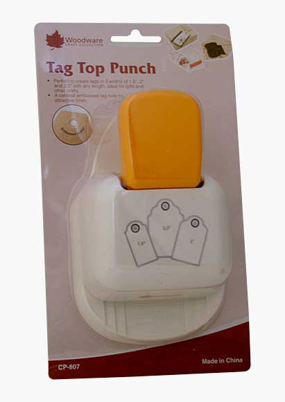 Multi-Tag Top Punch - Scalloped, with Embossed Eyelet (3 sizes)