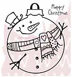 SO: WA16 Woodware Clear Stamps - Large Snowman Bauble