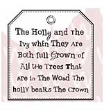 SO: WA16 Woodware Clear Stamps - Holly and Ivy Tag