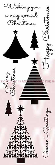 SO: WA16 Woodware Clear Stamps - Christmas Trees