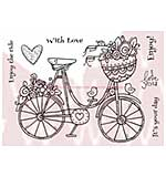 SO: WA16 Woodware Clear Stamps - Flowering Bike