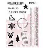 SO: WA16 Woodware Clear Stamps - Santa Post Elements