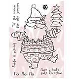 SO: WA16 Woodware Clear Stamps - Santa's Silly Jumper