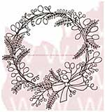 SO: WA16 Woodware Clear Stamps - Sketchy Wreath