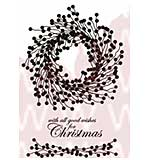 WA16 Woodware Clear Stamps - Berry Wreath