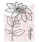 SO: WA16 Woodware Clear Stamps - Whimsical Flower Mary Jane