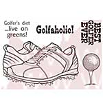 SO: WA16 Woodware Clear Stamps - Golf Shoes