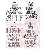 SO: WA16 Woodware Clear Stamps - Hand Drawn Sentiment