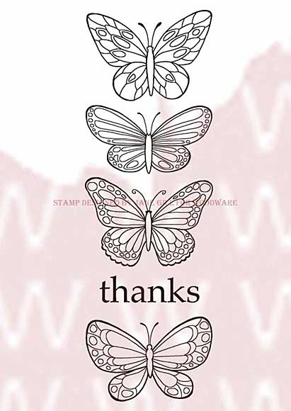SO: WA16 Woodware Clear Stamps - Butterflies