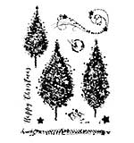 Woodware Clear Singles - Sparkly Trees