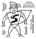 Woodware Clear Singles - Super Hero