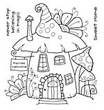 SO: Woodware Clear Stamps - Fairy House