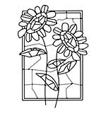 SO: Woodware Clear Singles - Mosaic Flower Window