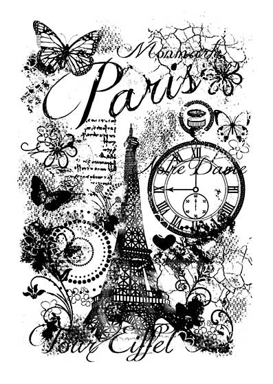 Woodware Clear Singles - Paris Collage