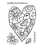 Woodware Clear Singles - Mosaic Heart