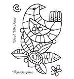 Woodware Clear Singles - Mosaic Bird