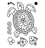 Woodware Clear Singles - Mosaic Turtle