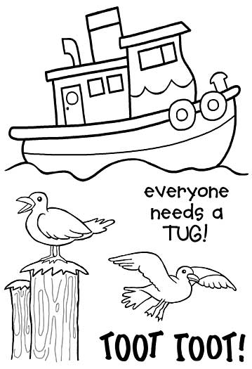 SO: Woodware Clear Stamps - Toot The Tug