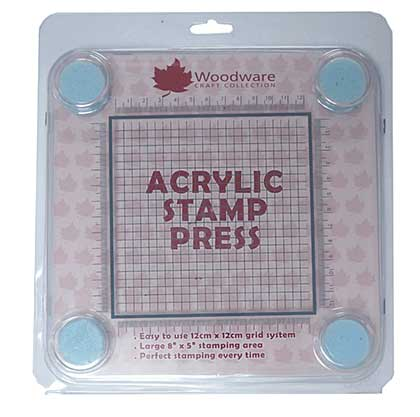 Woodware Acrylic Stamp Press 12cm x 12cm Grid