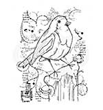 SO: Woodware Clear Magic Stamps - Frosty Robin [WW1806]