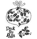 Woodware Clear Magic Stamps - Deck The Halls [WW1806]