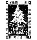 Woodware Clear Magic Stamps - Lino Cut Christmas Tree [WW1806]