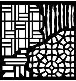 Woodware Stencil Broken Tiles