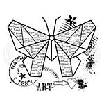 Woodware Clear Singles Paper Butterfly