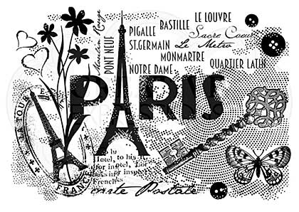 Woodware Clear Singles Paris Postcard