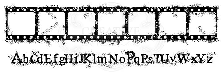 SO: Film Strip, Woodware Clear Singles Stamp [1019]