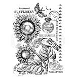 Vintage Sunflower, Woodware Clear Singles Stamp [1019]
