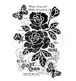 Vintage Rose, Woodware Clear Singles Stamp [1019]