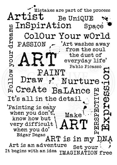 Make Art Background, Woodware Clear Singles Stamp [1019]