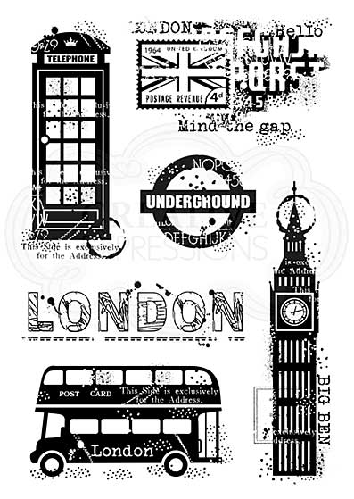 London Elements, Woodware Clear Singles Stamp [1019]