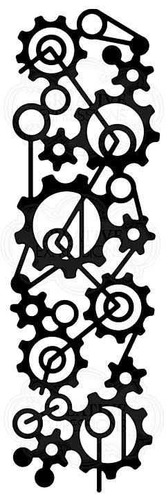 Mechanical Mesh, Woodware Stencil [1019]