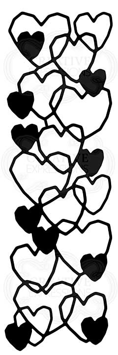 Heart Mesh, Woodware Stencil [1019]