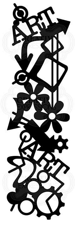 Graffiti Mesh, Woodware Stencil [1019]