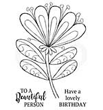Bold Blooms - Wendy, Woodware Clear Singles Stamp [1019]