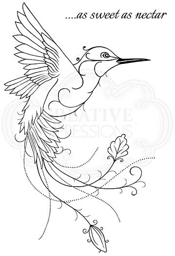 Hummingbird, Woodware Clear Singles Stamp [1019]