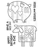 Ewe and Piggy, Woodware Clear Singles Stamp [1019]