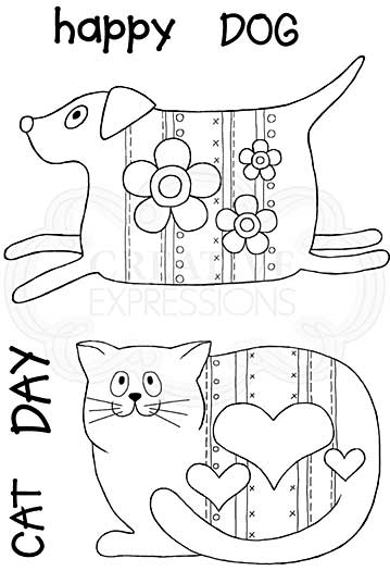 SO: Pup and Mog, Woodware Clear Singles Stamp [1019]