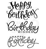 SO: Woodware Clear Singles Big Birthday Words