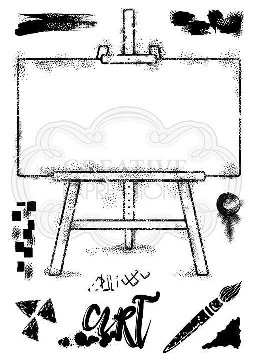 Woodware Clear Singles Art Easel A5 Stamp [WW2001]