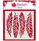 Woodware Fancy Feathers 6 x 6 Stencil [WW2001]