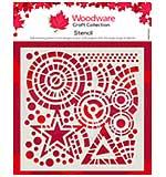 Woodware Stars & Circles 6 x 6 Stencil [WW2001]