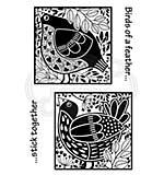 SO: Woodware Clear Singles Bird Blocks Stamp [WW2001]