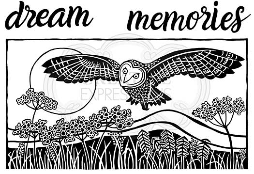Woodware Clear Singles Lino Cut - Hunting Owl Stamp [WW2001]