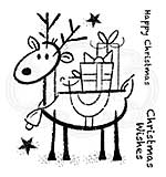 Woodware Clear Singles Rudolph Pressies 4 in x 4 in Stamp