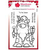 Woodware Clear Singles Seasonal Gnome 4 in x 6 in Stamp