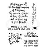 SO: Woodware Clear Singles Special Christmas Words 4 in x 6 in Stamp